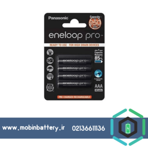 باتری نیم قلمی قابل شارژ پاناسونیک مدل Eneloop بسته 4 عددی