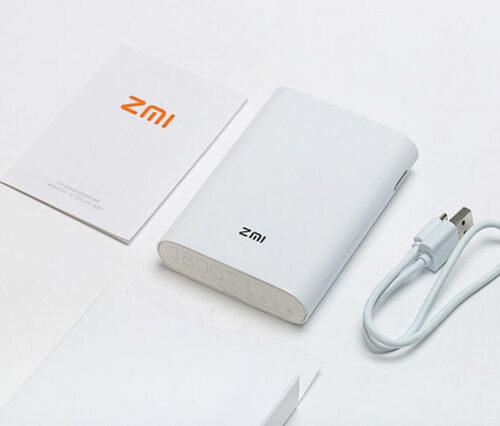 پاور بانک و مودم همراه ۴G شیائومی مدل ZMI MF855 با ظرفیت ۷۸۰۰mAh