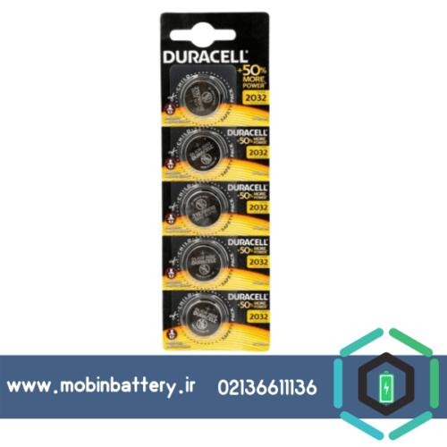 باتری سکه ای دوراسل مدل 2032 بسته پنج عددی