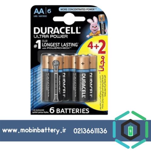 باتری قلمی دوراسل مدل Ultra Power Duralock With Power Check بسته 2 + 4 عددی