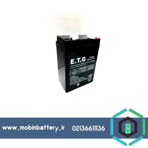 باتری سیلد اسید 4 ولت 6 آمپر ETG