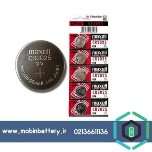 باتری CR2025 سکه ای مکسل 5 تایی