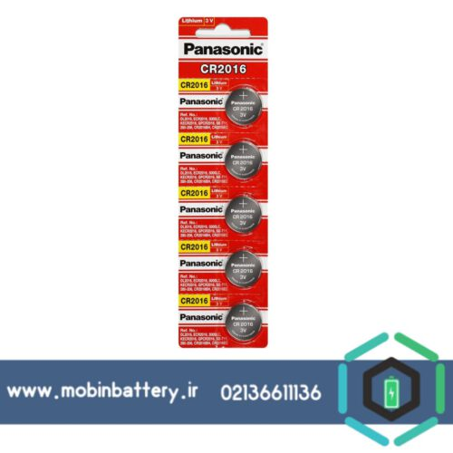 باتری سکه ای پاناسونیک 2016 کارتی 5 عددی