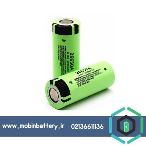 باتری شارژی 5000 میلی آمپر لیتیوم آیون پاناسونیک مدل 26650