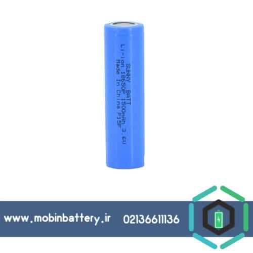باتری لیتیوم 18650 شارژی 3.7 ولت 1500 میلی آمپر HP سانی بت