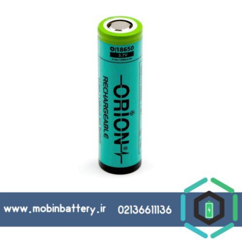 باتری لیتیوم 18650 شارژی 3.7 ولت 3000 میلی آمپر اوریون orion سرتخت