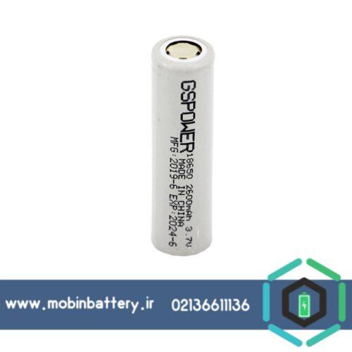 باتری 18650 لیتیوم آیون 3.7 ولت 2600 میلی آمپر شارژی مدل 2c جی اس پاور